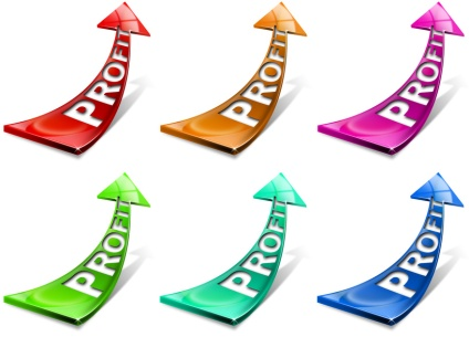 Profit positive arrows