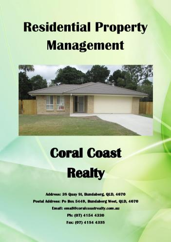 Property Management Coral Coast Realty